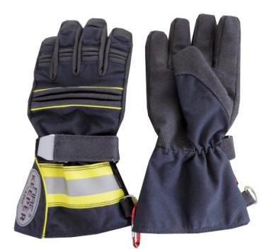 Askö Feuerwehrhandschuh Patron Chief Farbe Dunkelblau//Neongelb größe 9 und 10