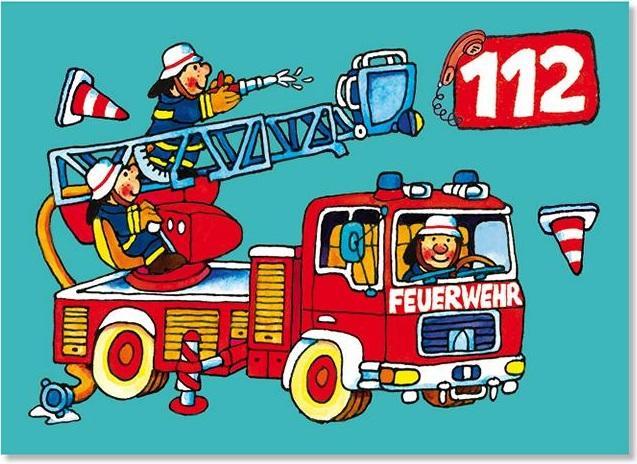 Feuerwehrglückwunschkarten Feuerwehrgrusskarten
