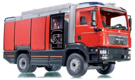 Standmodell aus Metall handgefertigt Feuerwehrauto Nachbildung Oldtimer