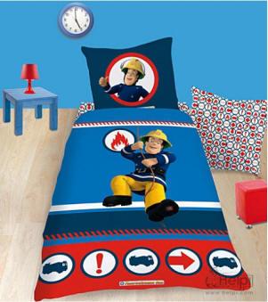 kinderpolizeibettw sche kinderfeuerwehrbettw sche. Black Bedroom Furniture Sets. Home Design Ideas