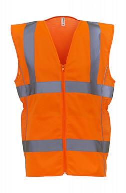 Warnschutzweste Polyester EN20471 Klasse 2 orange//neonorange